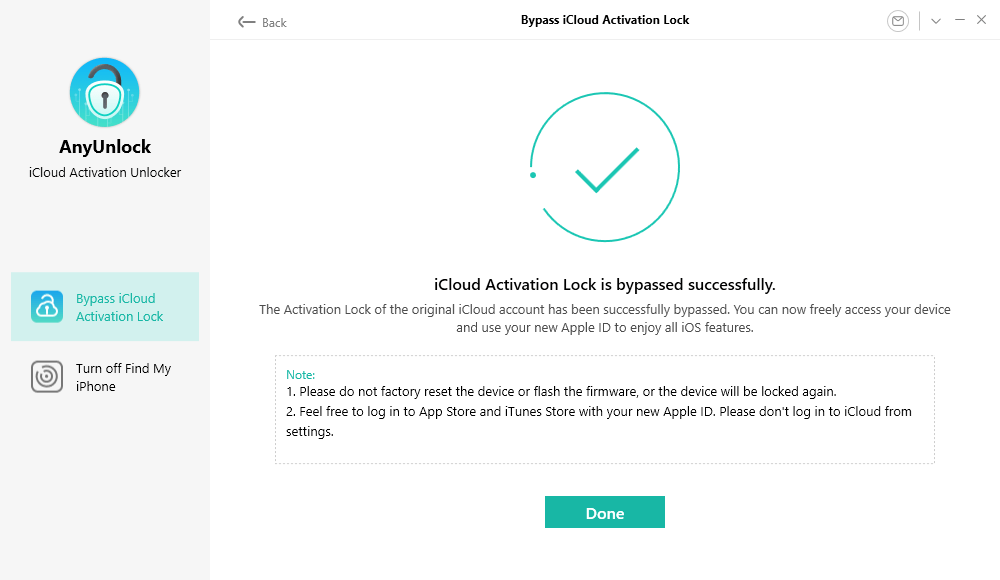 iCloud Activation Lock Is Bypassed Successfully