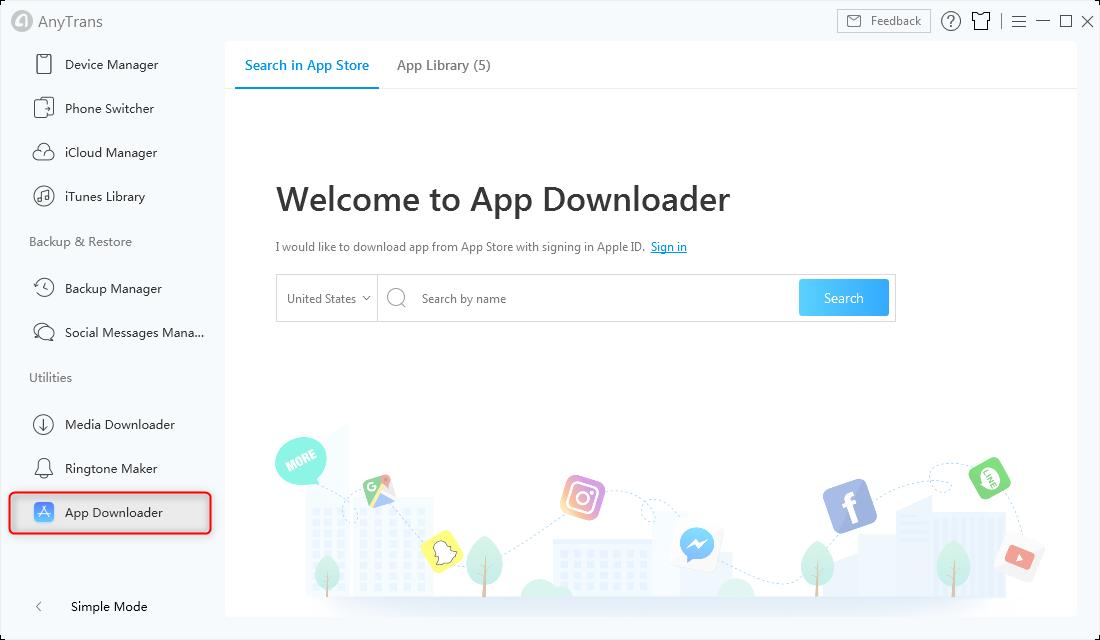 App Downloader in AnyTrans - Step 5