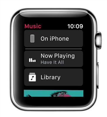 Playing Apple Music tracks on Apple Watch