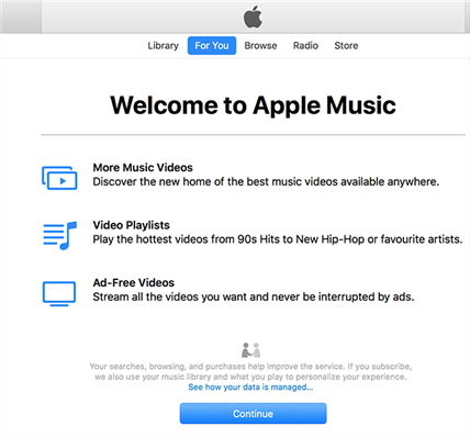 Using iTunes to access Apple Music on Mac