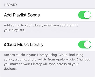 Disable and enable iCloud Music Library on your device
