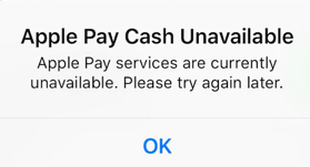 Apple Pay Cash Unavailable