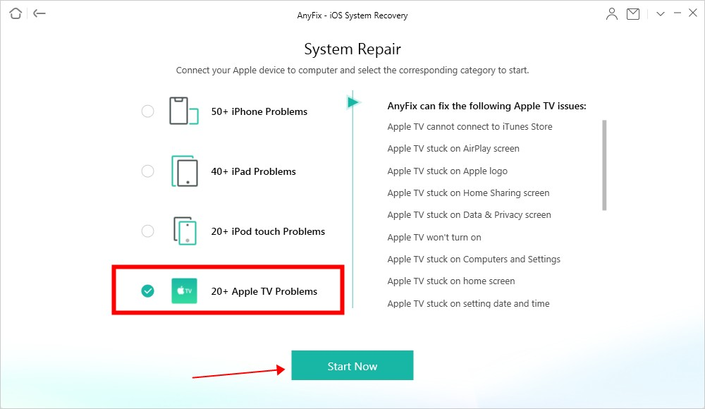 How to Fix Apple TV Issue- Step 2