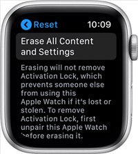 Reset an Apple Watch
