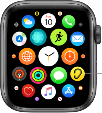Access the Apple Watch Apps List