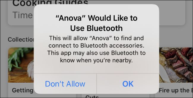 Apps Want Permission to Access Bluetooth