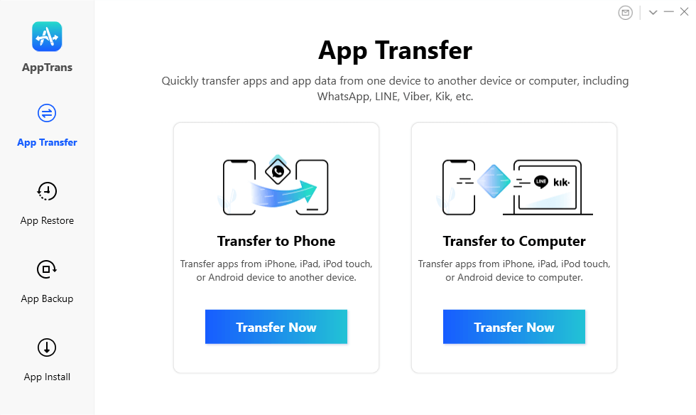 Transfer App from iPhone/iPad to Phone/Computer