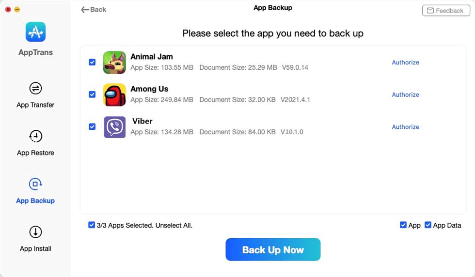 Choose Viber to Make a Backup