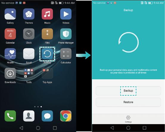 Make A New Backup of Huawei Phone