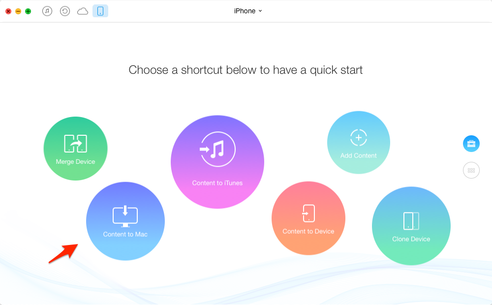 How to Backup iPhone without iTunes or iCloud – Step 2