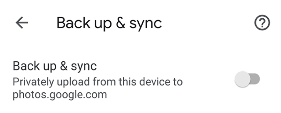 Turn on the Sync Option in Google Photos