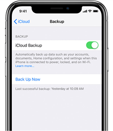 Backup Apps on iPhone using iCloud - Step 2