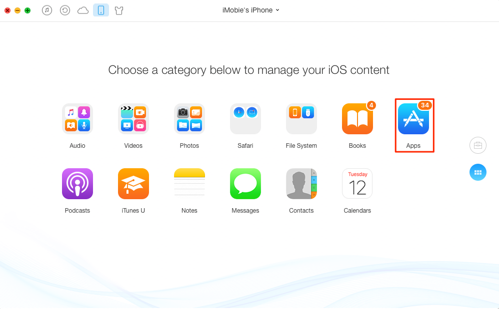 How to Backup Apps on iPhone - Step 2