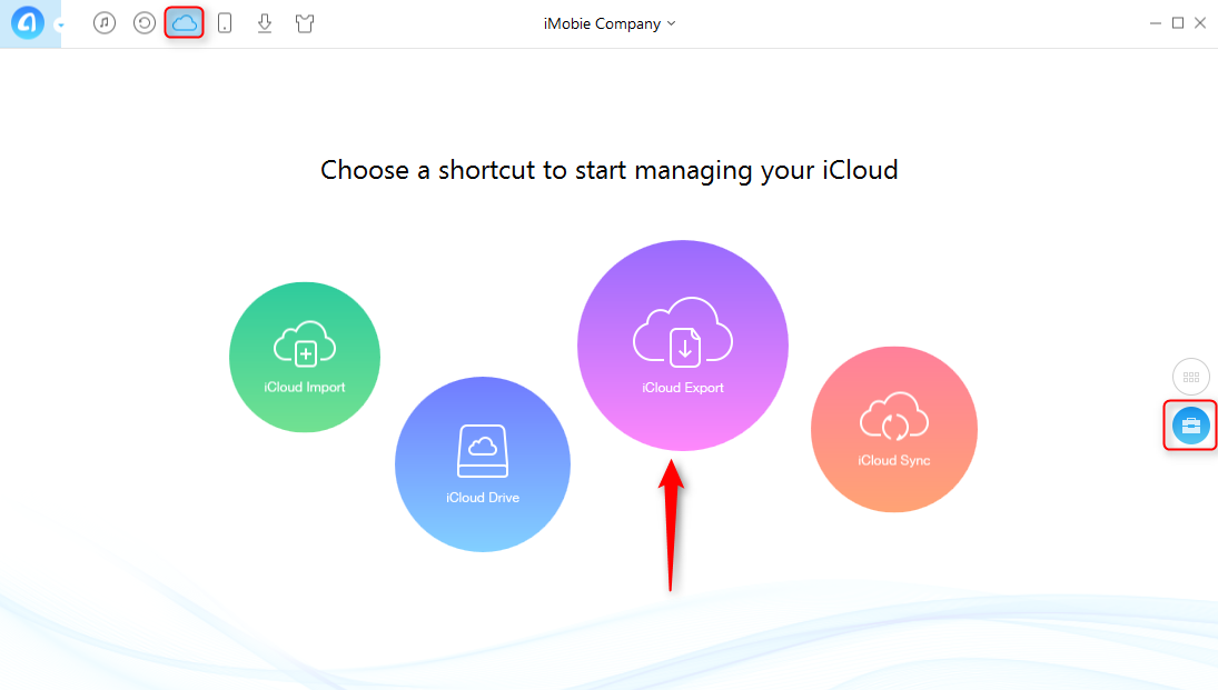 Backup iCloud Photos to PC with AnyTrans - Step 2
