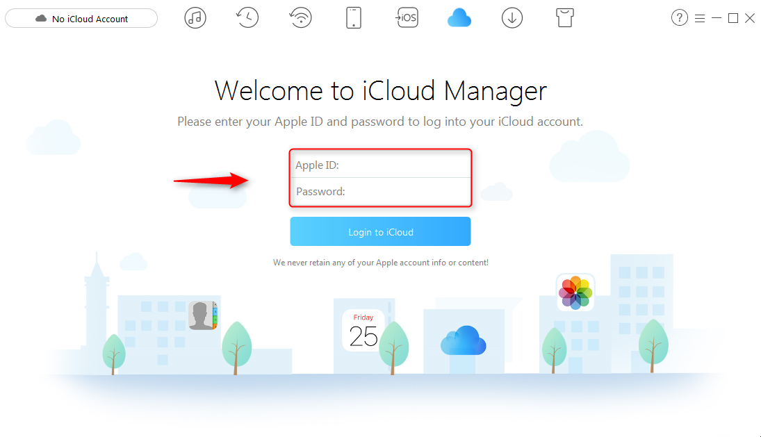 How to Backup iCloud to External Hard Drive - Step 1