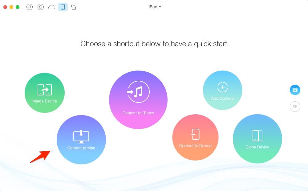 How to Back up iPad Air/Air 2 and iPad mini 2/mini 3 to Computer – Step 2