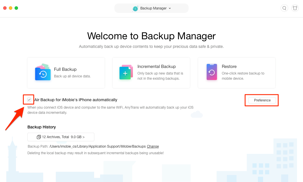 Backup iPhone Automatically with AnyTrans