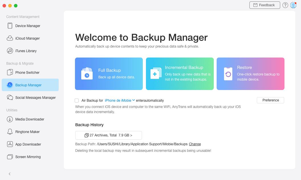 Backup iPhone/iPad/iPod Data with AnyTrans