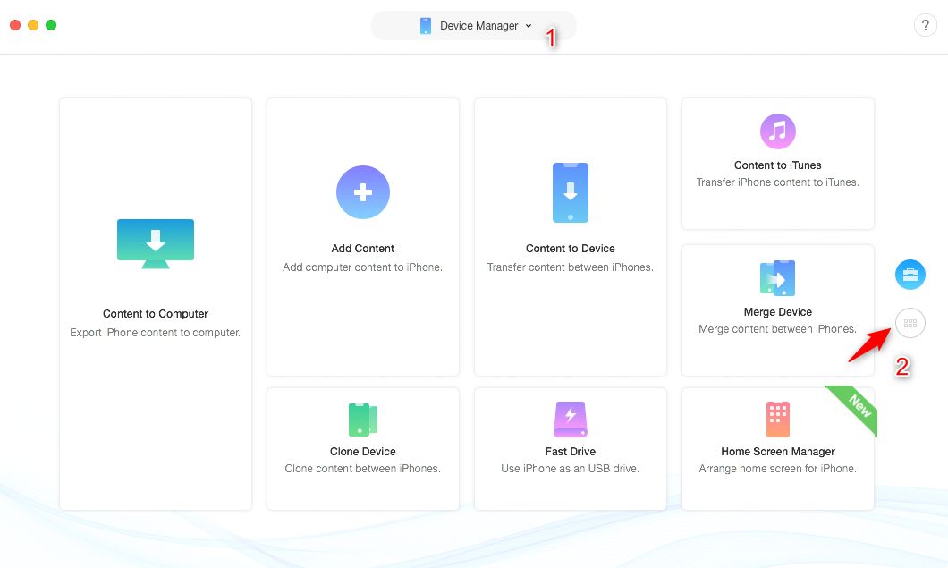 How to Backup iPhone Photos with a Google Drive Alternative - Step 1