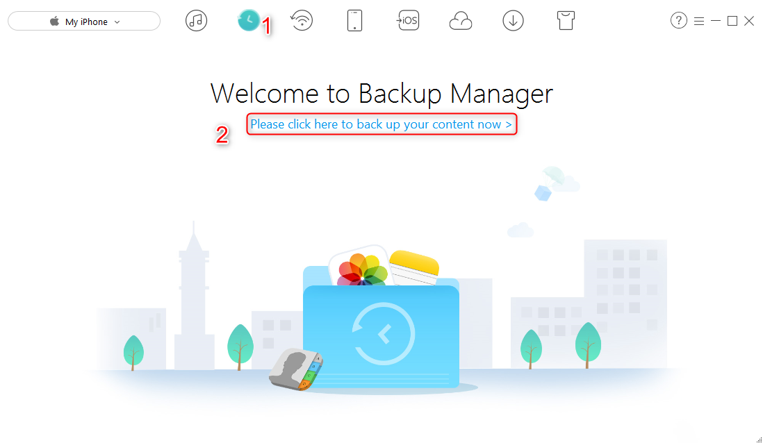 How to Backup iPhone to Windows 10 - Step 2