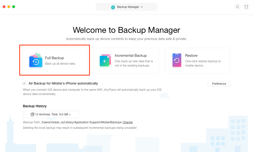 Back Up iPhone/iPad/iPod with An iTunes Alternative - Step 2