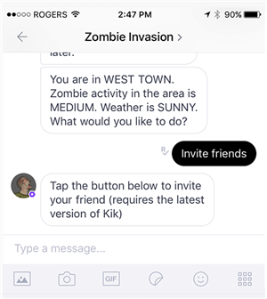 View messages in the Kik app on your phone
