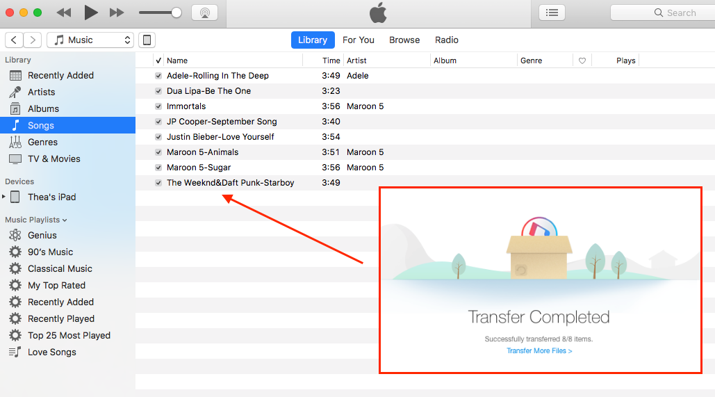 Backing up Music to iTunes Successfully