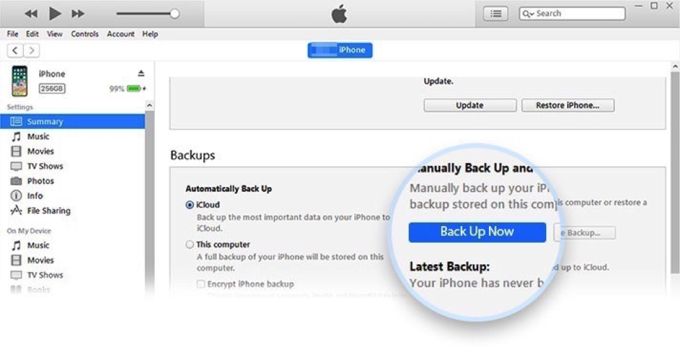 Backup Notes on iPhone/iPad via iTunes