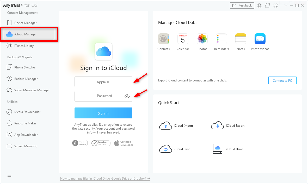 How to Backup PC to iCloud – Step 2