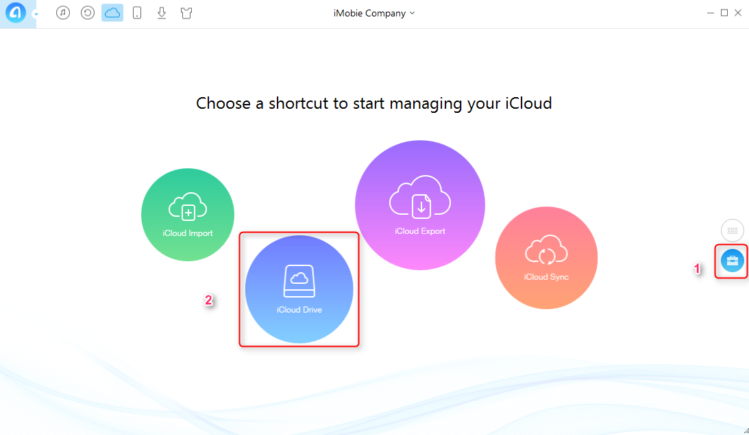 How to Backup PC Files to iCloud with AnyTrans   Step 2