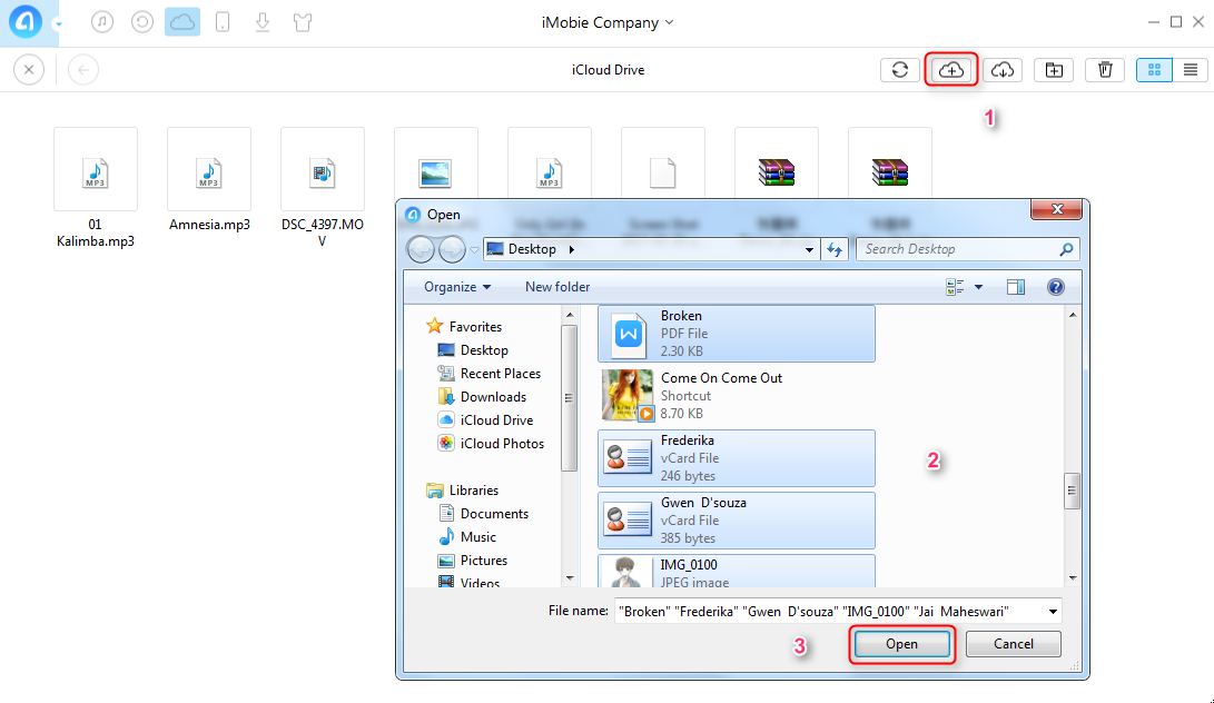 How to Sync PC Files to iCloud with AnyTrans   Step 3
