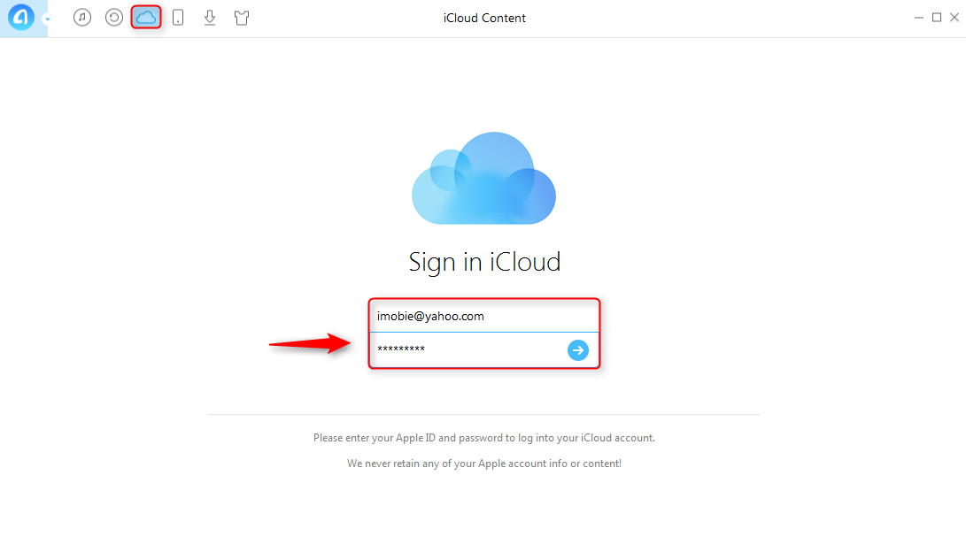 How to Backup PDF/Word/Excel Files to iCloud with AnyTrans - Step 1