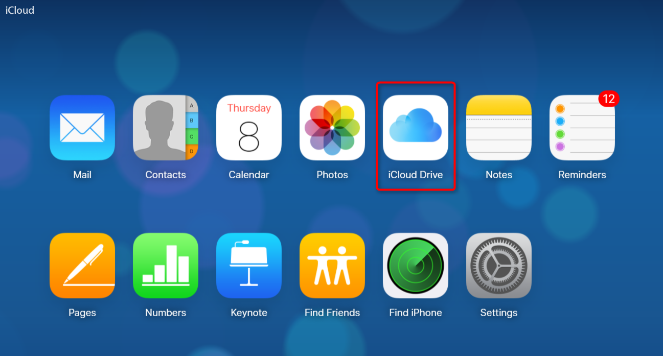 How to Backup PDF/Word/Excel Files to iCloud via iCloud.com - Step 2