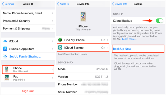 How to Backup Messages on iPhone via iCloud
