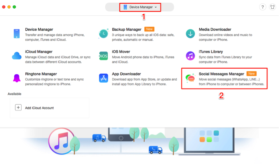 How to Backup Viber with AnyTrans - Step 1