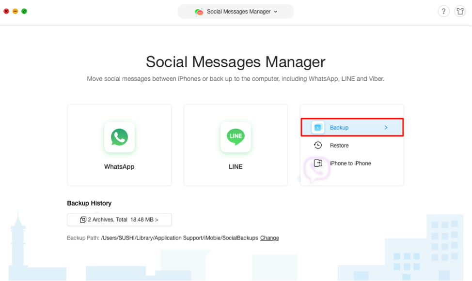 How to Backup Viber with AnyTrans - Step 2