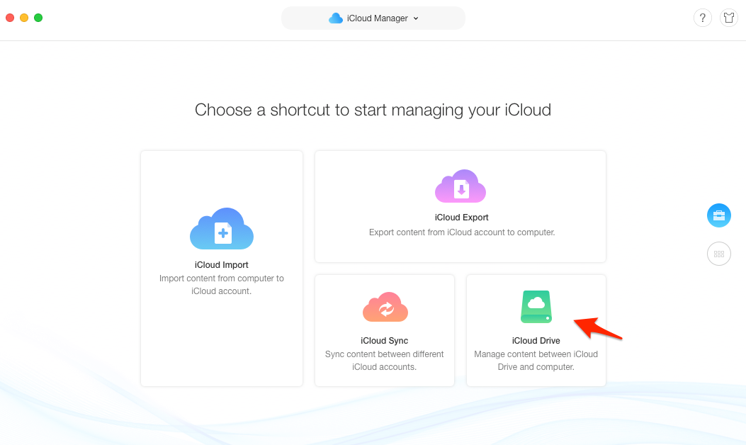 How to Backup PC to iCloud - Step 3