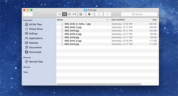 How to Batch Rename Files in Yosemite – Step 2