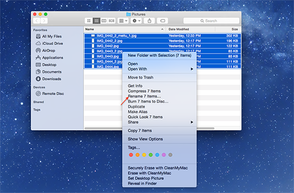 How to Batch Rename Files in Yosemite – Step 4