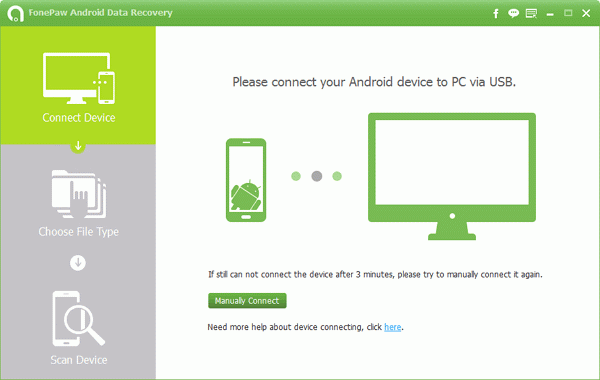 FonePaw Android Data Recovery Screenshot