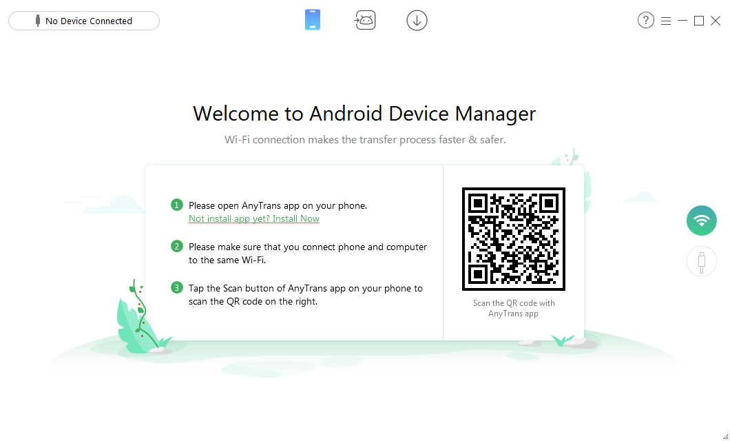 Top 5 Best Android Wireless File Transfer App - AnyTrans for Android