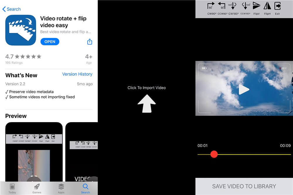 Video Rotate and Flip Video Easy