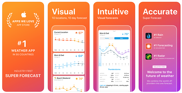 The Weather Line app
