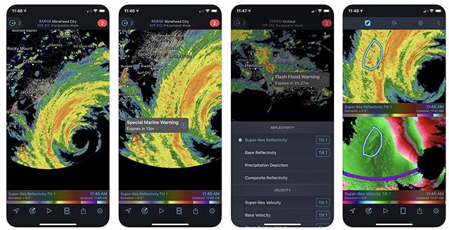 The RadarScope app