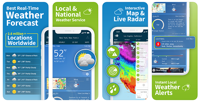 The WeatherBug app