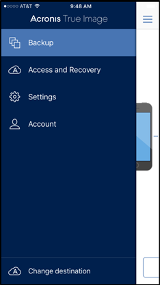 Best iPhone Backup Software Acronis True Image 2019 Screenshot