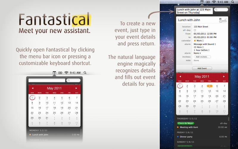Best OS X Apps - Fantastical Overview