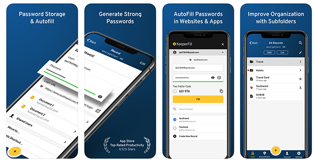 Keeper iPhone Password Manager