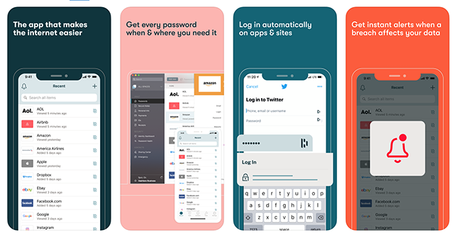 Dashlane Password App for iPhone
