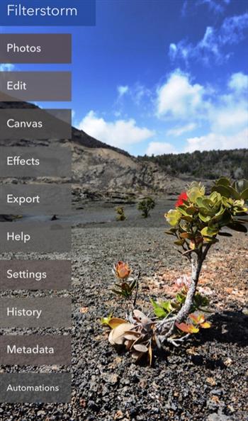 Filterstorm Neue app
